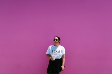 Famous pink wall on Melrose