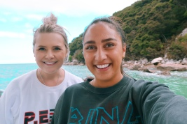 "Laughing through our Able Tasman ""cruise"""