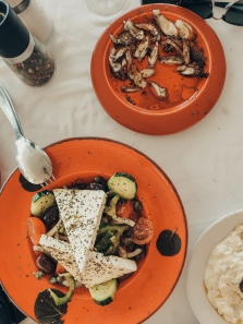 Greek salad & Octopus
